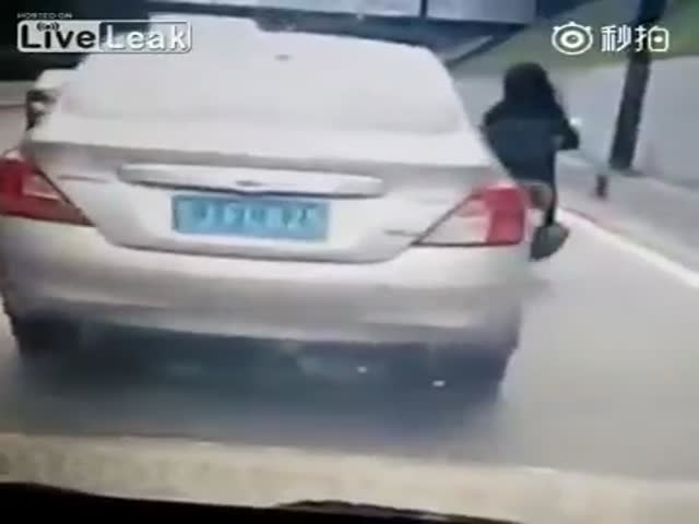 Karma Served Instantly For A Road Rage Nudge