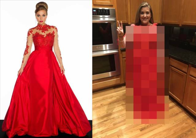 Girl Ordered A Dress For Her Prom Online Which Was A Big Mistake