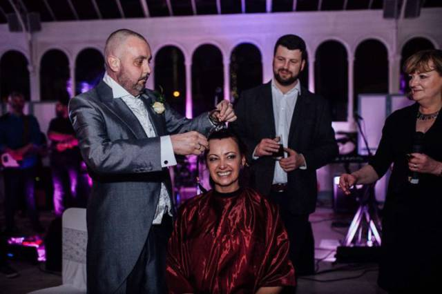 Bride Shaves Her Head At The Wedding To Support Her Terminally Ill Groom
