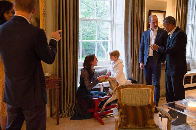 Prince George Met The Obamas At His Palace Wearing Pajamas And It Was So Damn Cute