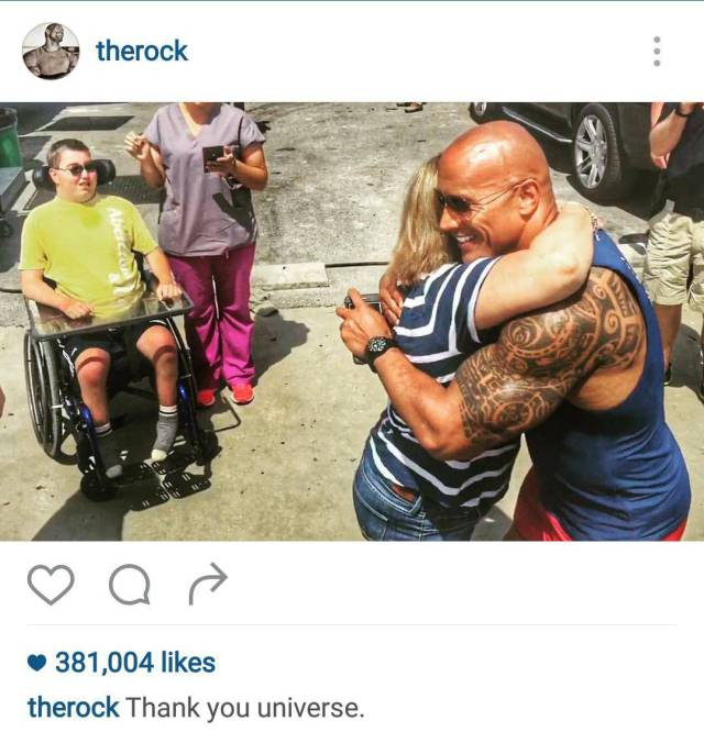 The Rock Proves Once Again How Awesome He Is