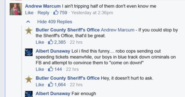 Thug Acting Tough On Facebook Until He Meets The Police In Reality