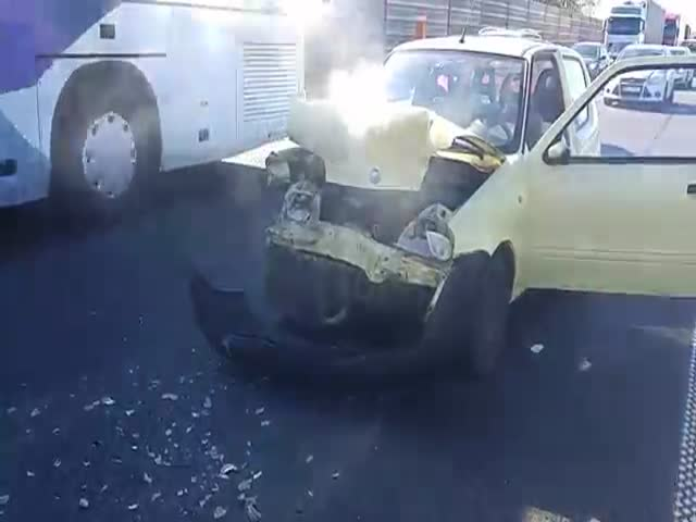 Here's What Happens If You Think Your Car Can Take On A Volvo