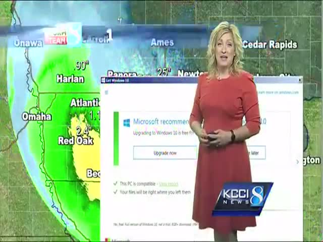 Weather Forecast Blooper: Windows 10 Pops Up When Least Wanted