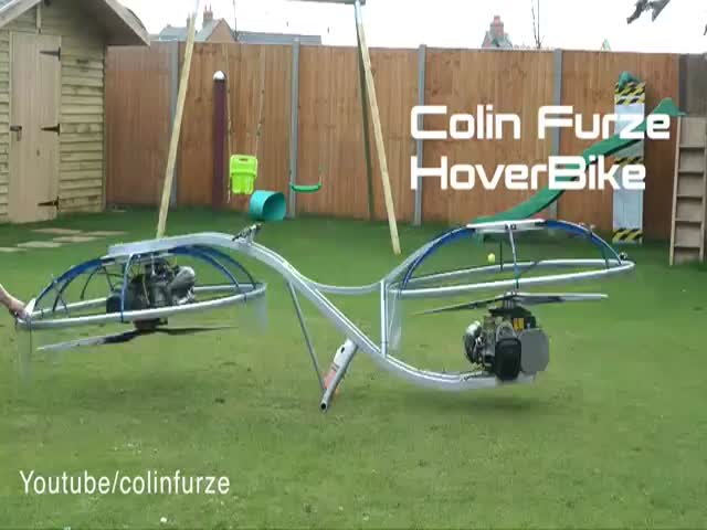 Guy Builds A Homemade Hoverbike