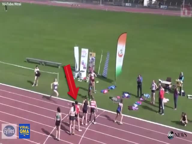 Incredibly Unexpected  Finish Of A Relay Race