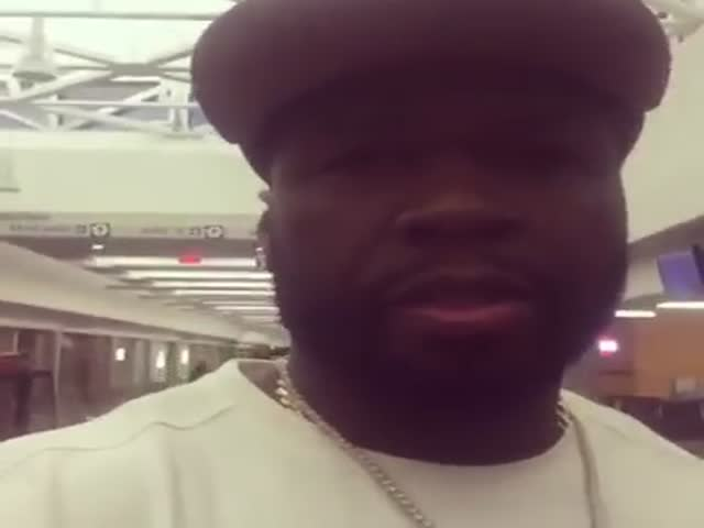 50 Cent Films An Airport Employee Who He Thinks Is Hella High