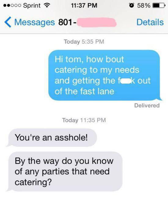 Bad Driver Gets Hilariously Owned Via Text Message