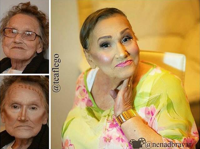 Grandma Asked Her Granddaughter For A Makeup And Became An Internet Sensation