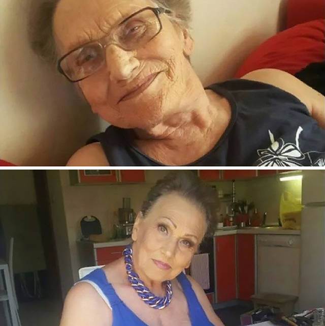 Grandma Asked Her Granddaughter For A Makeup And Became An Internet Sensation