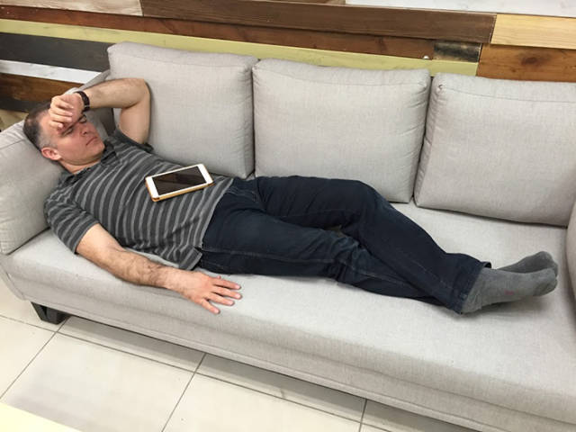 While CEO Was Napping On The Couch His Employees Took A Picture Of Him And Created  Plenty Of Funy Memes