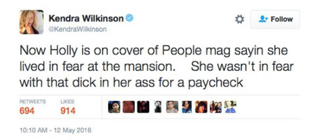 Kendra Wilkinson Destroyed Holly Madison On Twitter In NSFW-ish Way