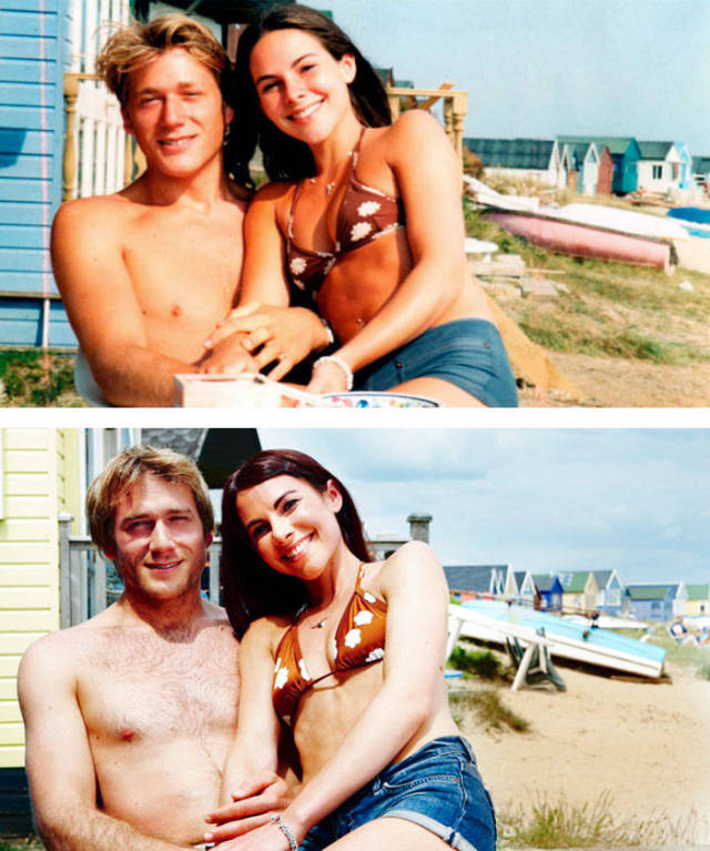 Couples Recreate Their Old Photos Showing That Love Never Grows