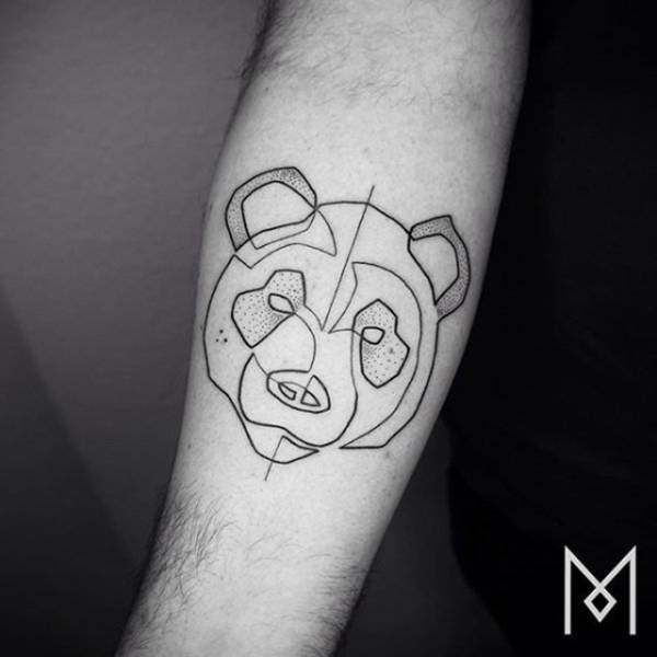 ece7afe6d Amazing Tattoos Created With A Single Continuous Line (26 pics ...