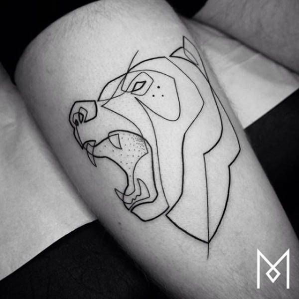 f3e8aff25 Amazing Tattoos Created With A Single Continuous Line (26 pics) - Picture  #22