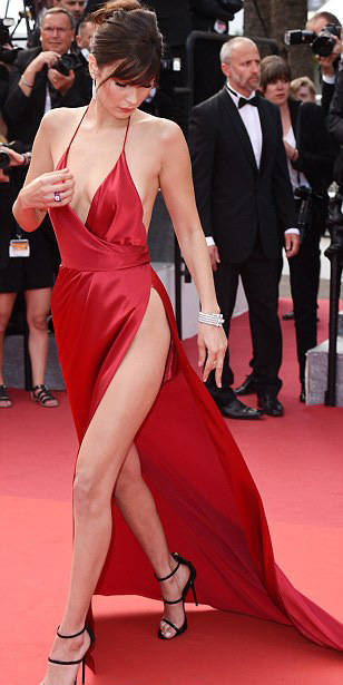 Model Bella Hadid In A Racy Red Dress Made All The Heads Turn At Cannes
