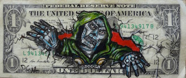 Dollar Bills Turned Into Masterpieces Thanks To Drawing