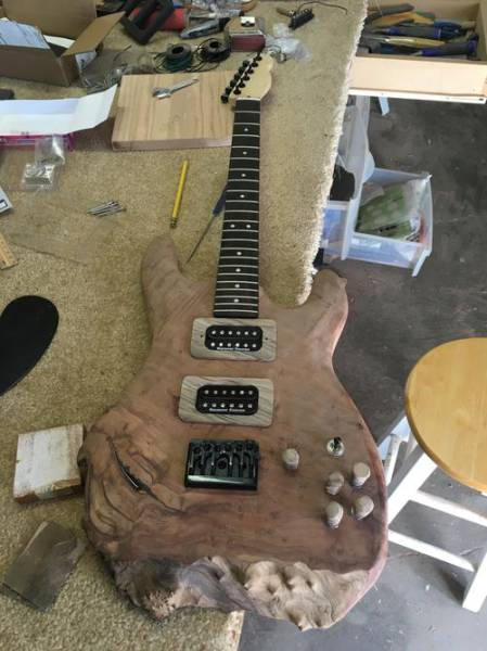 A Guy Built A Guitar From A Piece Of Mahogany
