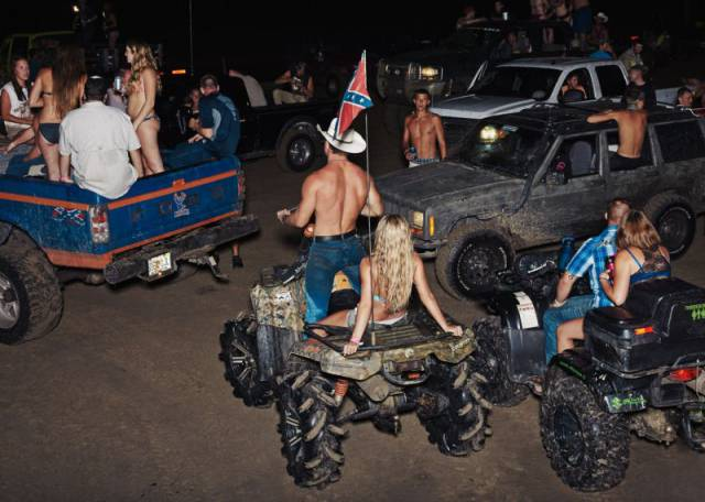 "Members Of The ""Redneck Yacht Club"" Party Hard"