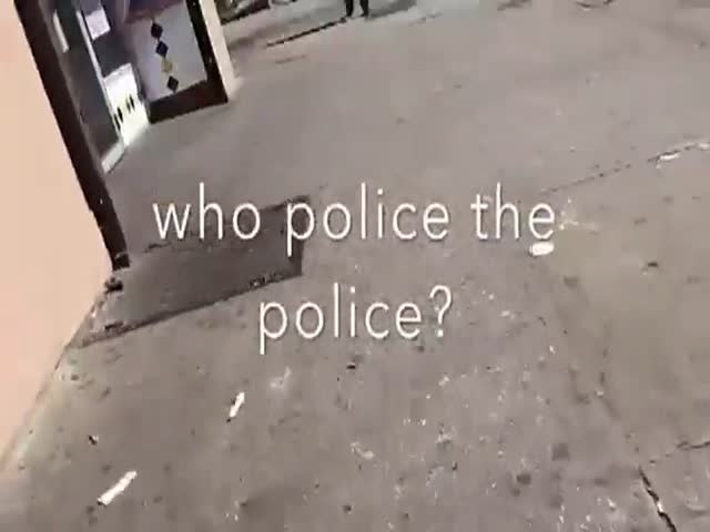 Citizen In Baltimore Forces A Policeman To Pick Up His Own Litter