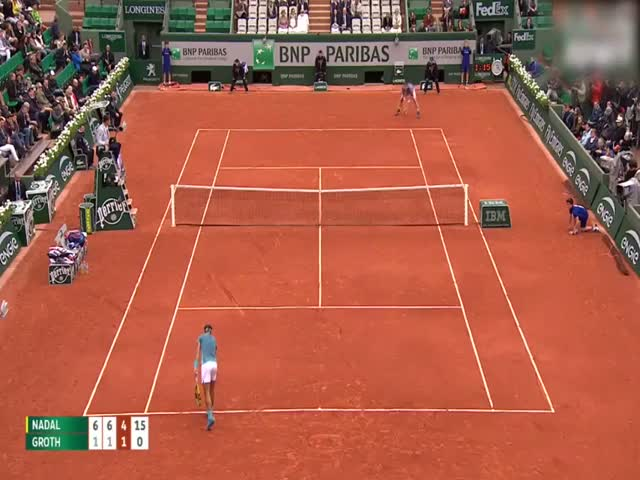 Unbelievable Blow Of Rafael Nadal During The Roland-Garros Tournament