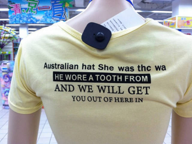 Funny Engrish T-Shirts Were Spotted In Asia