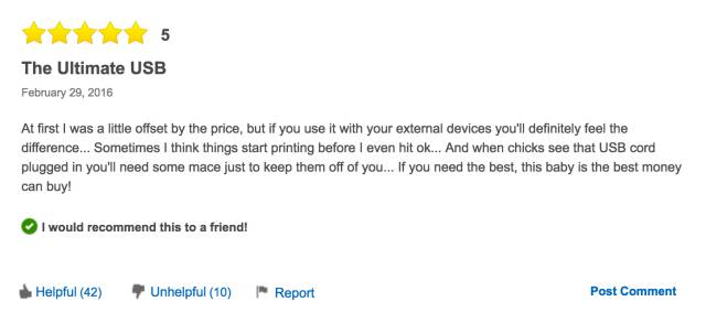 Best Buy Sells A $1,500 USB Cable And Reviews Are Priceless
