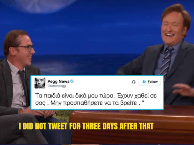 Simon Pegg Makes A Great Trolling On Twitter Of His Audience