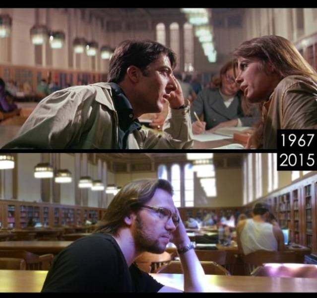 Guy Visits Locations Of Famous Movies To Compare How They Look Like Now