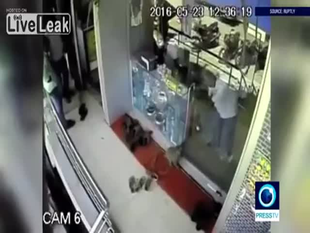 In India A Monkey Robbed A Jewelry Store