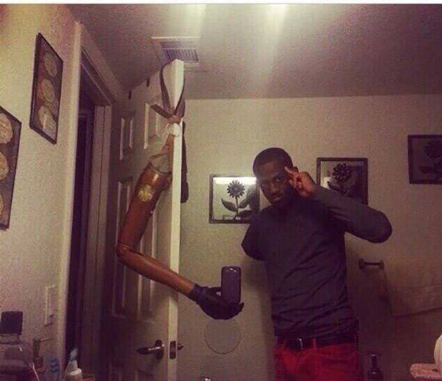 If You Don't Have A Selfie Stick You Can Always Improvise