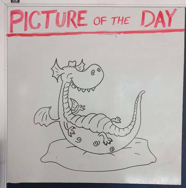 History Teacher Exercises His Artistic Bone On The Whiteboard