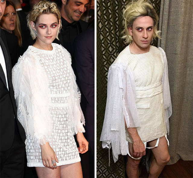 """Former """"Buffy"""" Actor Hilariously Recreates Outfits Of Celebrities With Household Items"""