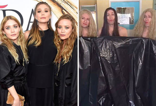 "Former ""Buffy"" Actor Hilariously Recreates Outfits Of Celebrities With Household Items"