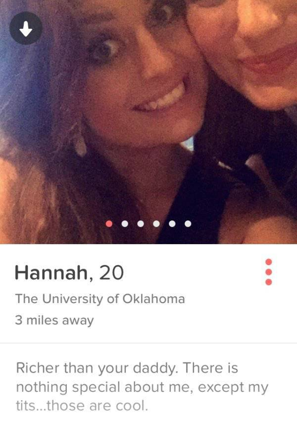 Awesome tinder profiles