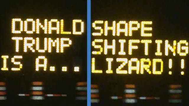 Those Who Hacked These Electronic Road Signs Have A Good Of Sense Of Humor