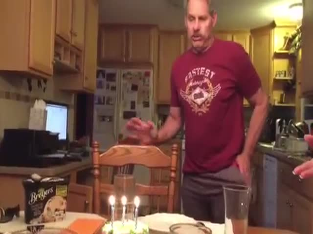 Dad Explains How To Blow Out Candles The Proper Way