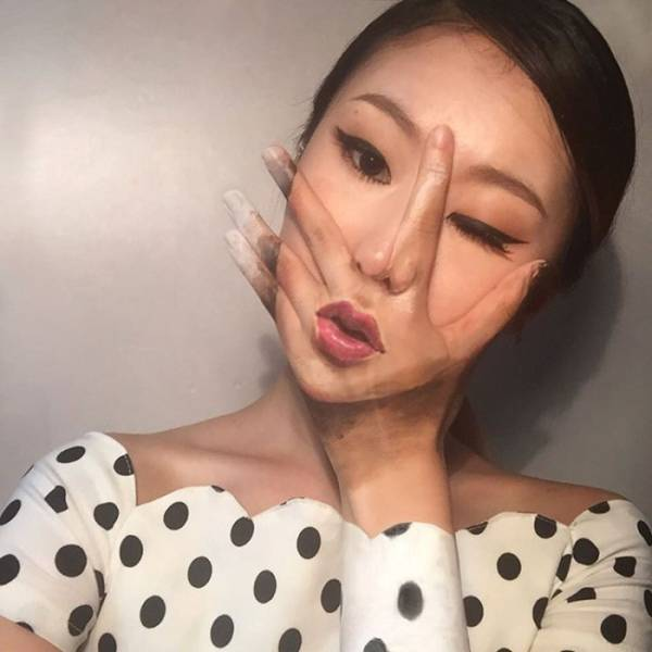Korean Visual Artist Creates Amazing Optical Illusions With Her Own Face