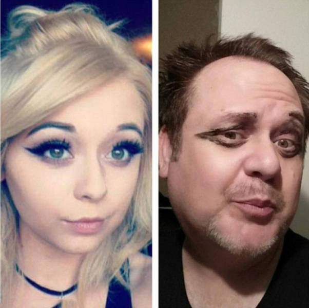 Dad Recreates Sexy Selfies Of His Daughter And The Results Are Priceless