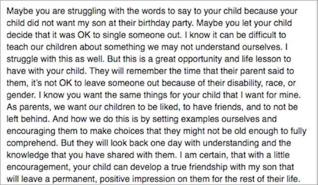 Mother Writes An Honest And Powerful Letter After Her Kid Was The Only One Uninvited To A Birthday Party