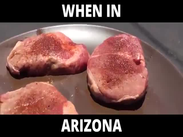 That's How You Cook In Arizona In Summer