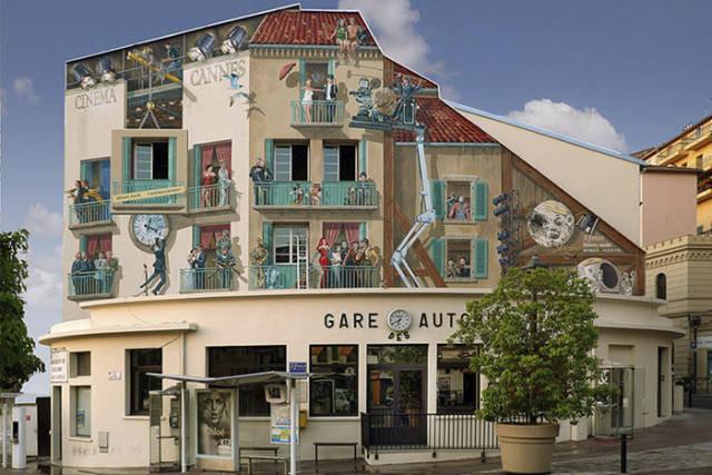 French Artist Creates Mind Blowing Trompe-L'oeil Illusions