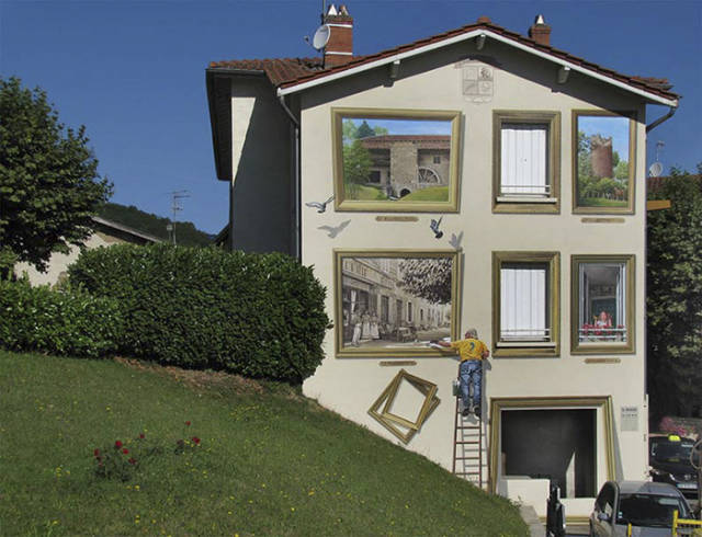 French Artist Creates Mind Blowing Trompe-L'oeil Illusions