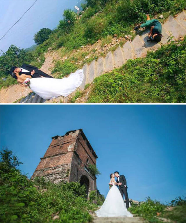 These Wedding Photographers Went To Great Lengths To Make A Perfect Shot
