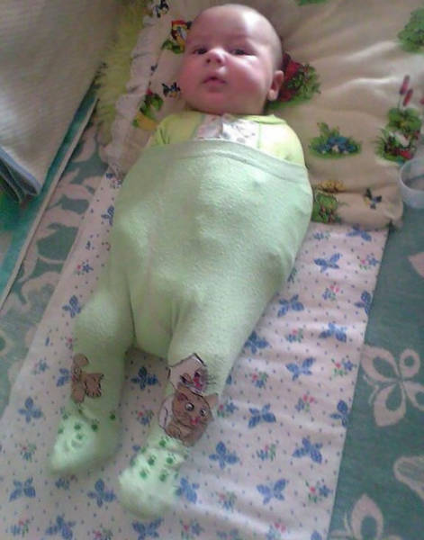 Wives Share Photos Of Their Other Husbands fails Failing Miserably At Dressing Their Babies