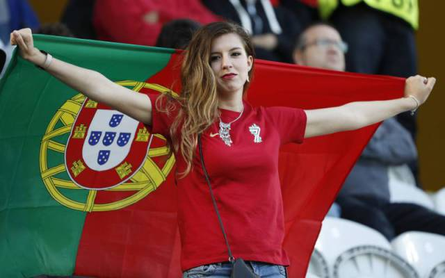Collection Of Female Football Fans At Euro 2016