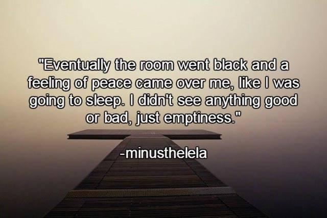 What It Feels Like To Die…