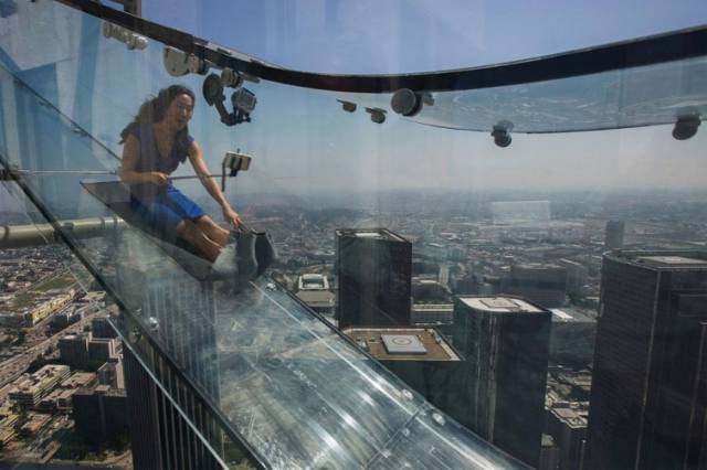 Would You Dare To Ride This Heart-Stopping Glass Slide?