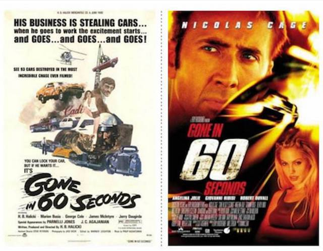 Famous Movie Posters: Original vs Remake