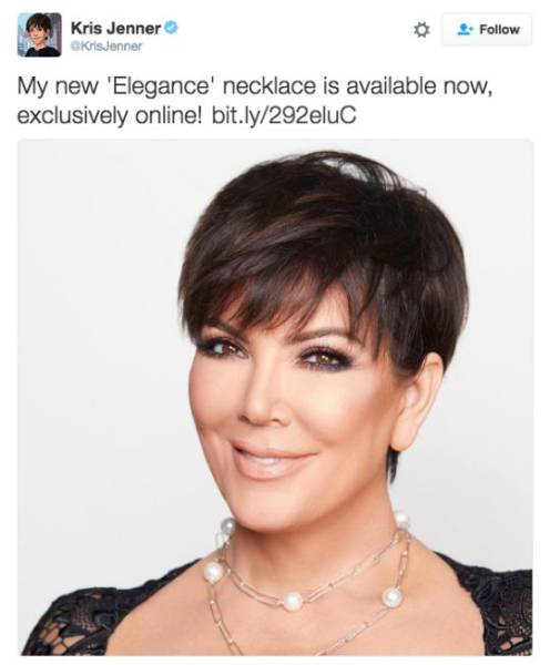 Kim Kardashian's Mom Kris Promoted Her New Necklace Online, Twitter Users Destroyed It